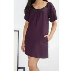 Maeve Anthropologie Plum Purple Shift Dress Puff